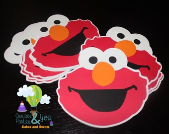Elmo Party Invitations - Set of 12 / Elmo Sesame Street
