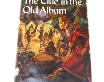 nancy drew mystery story  ...  vintage book circa 1947   ...  the clue in the old album  #24