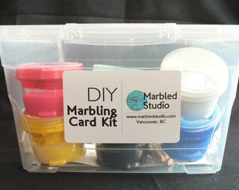 DIY Marbling Card Kit
