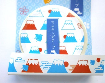 Japanese Tape Mount Fuji And Plovers