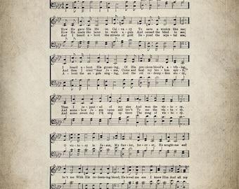 Victory in Jesus Hymn Print - Sheet Music Art - Hymn Art - Hymnal Sheet - Home Decor - Music Sheet - Print - #HYMN-P-038