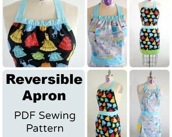 Fully reversible apron  - PDF Sewing  pattern