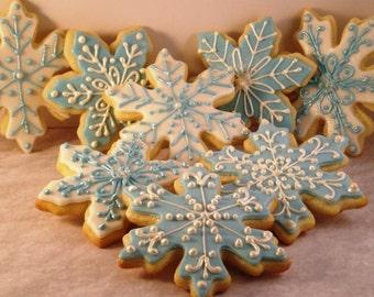 12 Snowflake Sugar Cookies