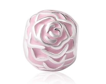 Pink enameled steel charms
