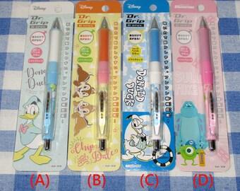 Japan Disney x Pilot Donald Duck / Chip and Dale / Monsters Inc Dr Grip Mechanical Pencil