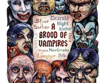 A Brood of Vampires 11 x 14 print