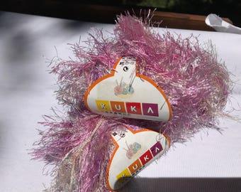 Eyelash Furry Variegated KUKA Yarn by GSC Textiles