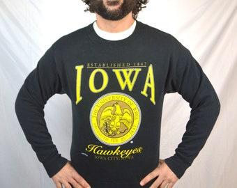 Vintage 90s The University of Iowa Hawkeyes - Sweatshirt