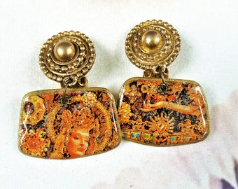"""""""For all the gold in the world"""" clip earrings"""