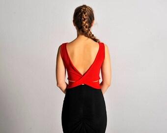 MARINA red top, XS-M
