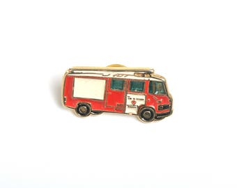 Fire truck, Lapel pin, enamel pin, pin for him, lapel enamel pin, fireman, fire enamel pin, emergency