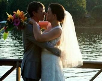 Veil, Bridal Veil, 2 Tier, Oval Wedding Veil, Blusher Veil, Traditional Wedding Veil, Quinceanera Veil,  Radiance Bridal Veil, CHOOSE LENGTH