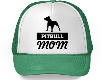 Pitbull Mom Baseball Hat Dog Mom Trucker Hat Pitbull Gifts for Mom Mother's Day Hat Mom Gifts for Dog Lovers Pitbull Dog Mom Trucker Hat