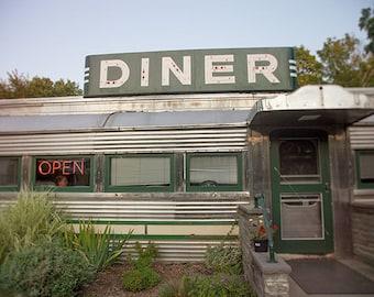 SALE - Roadside Diner photo, vintage, Americana, Country Diner - 8x10 fine art photograph