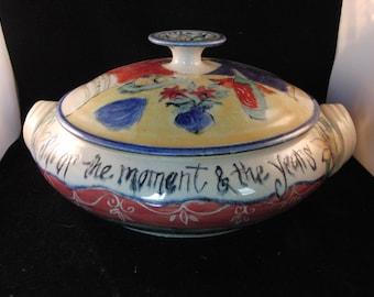 Decorated soup pot