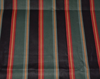 Black Striped upholstery furniture refurbish fabric formal stripes wide stripes formal English home decor library decor Springs