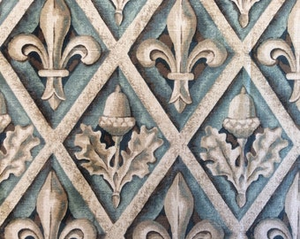 Fabric: FLEUR DE LIS Pillow or Table Topper  26 in by 39 inches