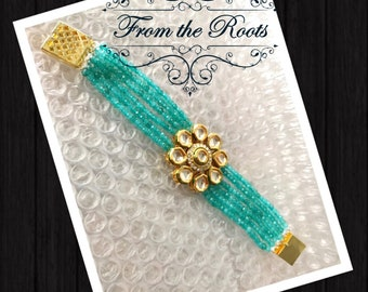 Kundan onyx bracelet in gorgeous colors