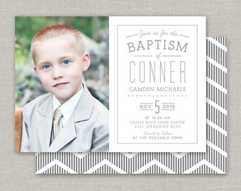 LDS Baptism Invitation - Conner
