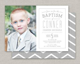 LDS Baptism Invitation - Conner