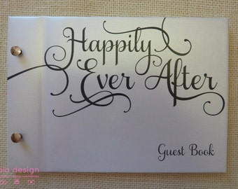 Happily Ever After Frost | Custom Made Guestbook | Weddings | Engagements | Anniversaries | Parties