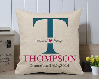 Grandma Gift - Last Name  Pillow - Name Pillow, Monogram Pillow Cover, Monogram, Custom Pillow, Personalized Pillow,Grandma Birthday Gift