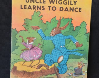 eb2167 Vintage Book UNCLE WIGGLY Learns To Dance No. 3600C