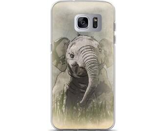 Cute Elephant iPhone Case, safari print, kids safari art, watercolor elephant, safari, baby elephant, safari nursery set, Samsung Case
