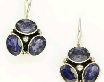 Sterling Silver .925 and Amethyst earrings