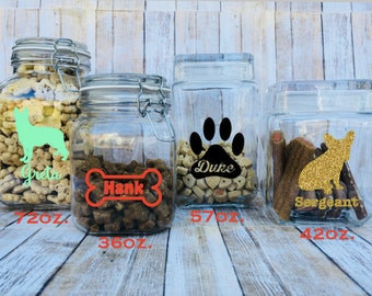 Personalized Dog Treat Jar - Cat Treat Jar - Mason Jar - Custom Jar - Personalize Treat Jar - Customized Treats - Personalized Pet