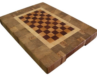 Cutting Board End Grain, Wooden, Handmade, with Feet, Butcher Block, Chopping Board, Cheese Board, Perfect Gift, Kitchen