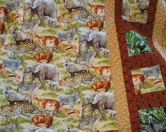 Safari animals quilt