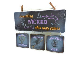 Hand Painted Halloween Sign | Wicked Witch Halloween Sign
