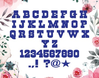 Cowboys Font Svg/Cowboys alphabet Svg,Dxf for Silhouette,Cricut, Print,Design and any more