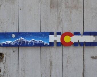 Colorado Home Night Sky Sign