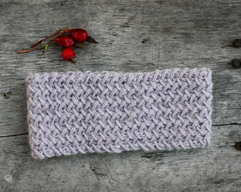 Hand knitted headband, alpaca knit headband, head wrap accessory, wool headband