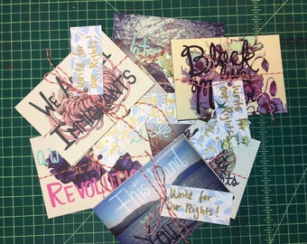 Write For Your Rights Postcards pack