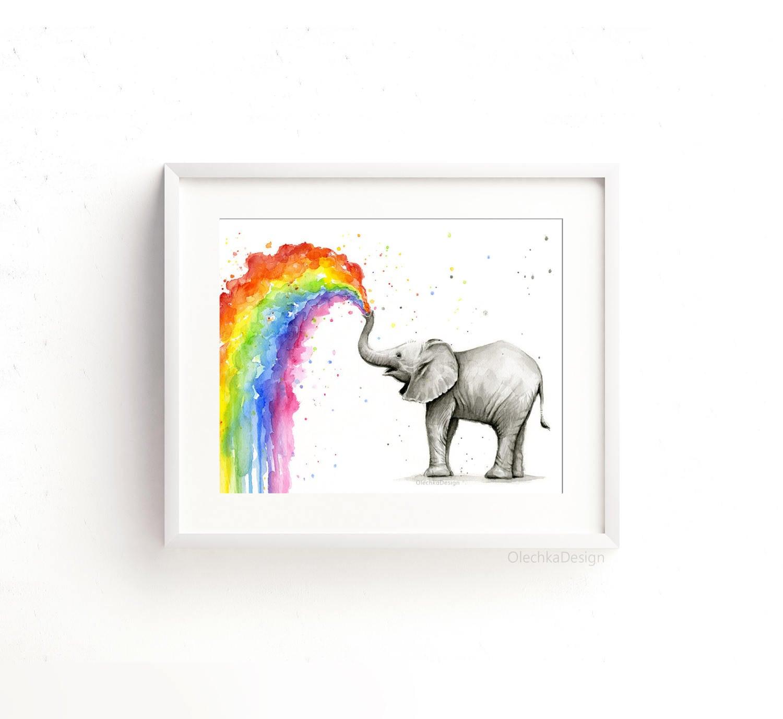 Elefant Kinderzimmer Elefant-Kunst