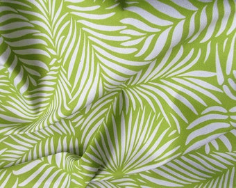 Palm Leaf printed fabric | tropical cotton | lime green textile