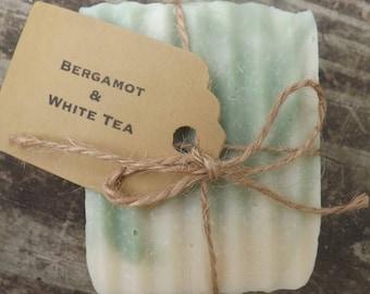 Bergamot and White Tea Goat's Milk Lard Soap