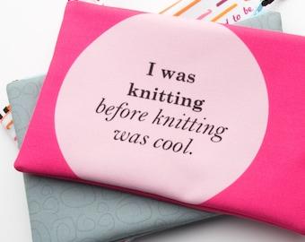 Zipper Bag, Fiber Art Geek, Knitting is Cool