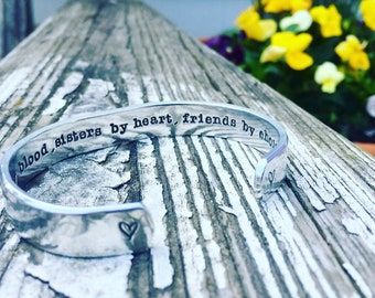 personalized hand stamped hidden message bracelet- free domestic shipping- custom hand stamped cuff- name bracelet