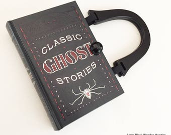 Ghost Stories Book Purse - Poltergist Book Cover Handbag - Paranormal Gift - Horror Genre Gift - Haunted House Gift - Gothic Book Clutch