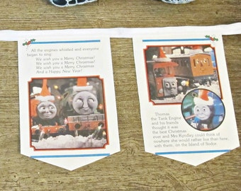 Thomas The Tank Engine Bunting - Train Birthday Party Nursery Decor - Baby Shower Homewares Banner Garland
