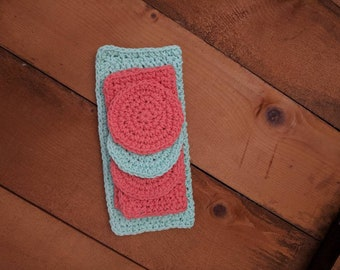 Crochet washcloth set