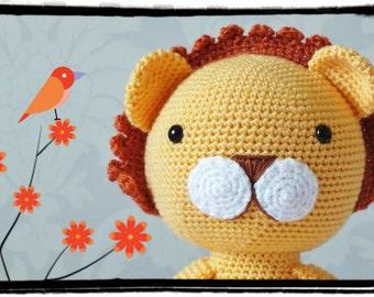 Crochet Amigurumi Lion Patterns : Crochet lion stuffed animal plush lion amigurumi crochet