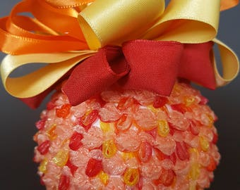 Orange, Peach and Yellow Rococo Braid Ornament
