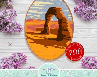 Arches | Digital Download | Cross Stitch Pattern |