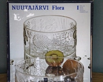 Iittala Nuutajarvi Flora Oiva Toikka Finnish bowl marked original box