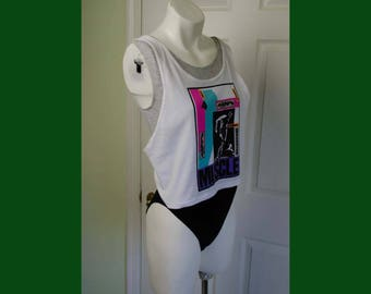 Vintage 1980's Woman's New Wave Muscle Leotard